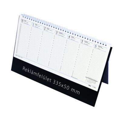 Asztali naptár kép nélküli Toptimer C051 álló sárga lapos fekete 2019.