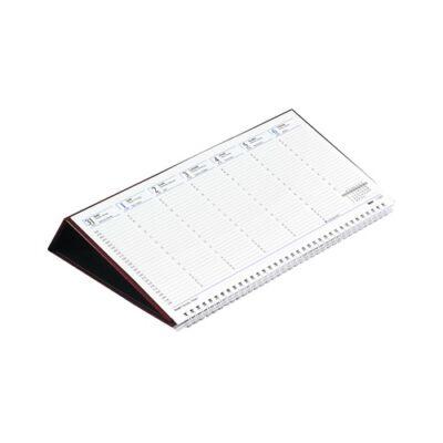 Asztali naptár kép nélküli Toptimer T050 fekvő fehér lapos zöld 2019.