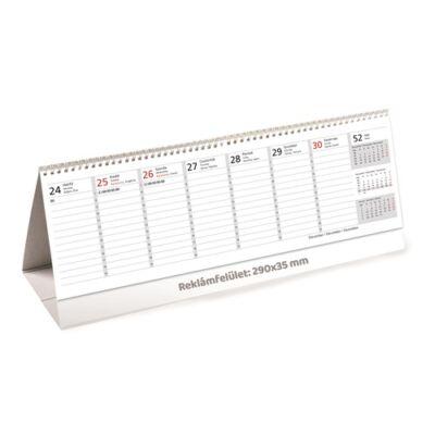 Asztali naptár kép nélküli Toptimer T065 álló fehér lapos 2019.