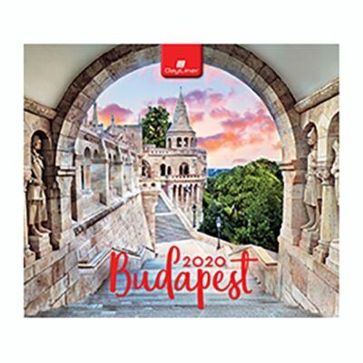 Asztali naptár képes Dayliner álló fehér lapos Budapest 2020.