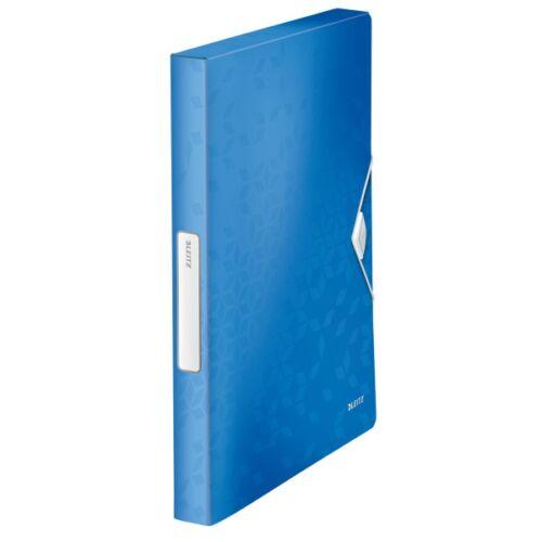 Gumis mappa LEITZ Wow Jumbo A/4 műanyag 30mm kék