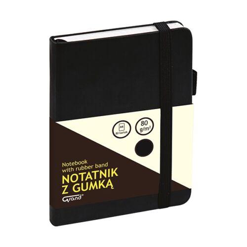 Jegyzetfüzet GRAND A/6 80 lapos puha fekete kockás