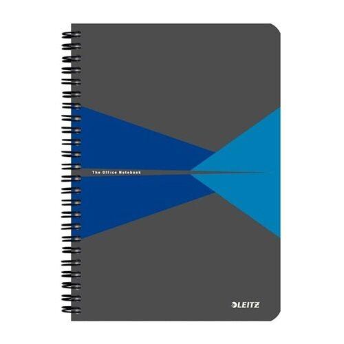 Spirálfüzet LEITZ Office A/5 karton borítóval 90 lapos kockás kék