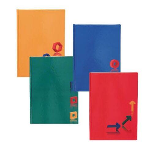 Beírókönyv EDUCA A/5 egyszínű keményfedeles 96 lapos kockás