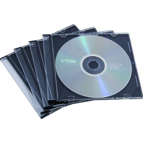 CD-tok Fellowes vékony átlátszó 1 lemez