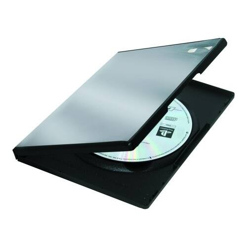 DVD-tok Fellowes normál PP fekete 1 lemez