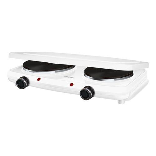 Elektromos főzőlap SENCOR SCP 2271WH 2250W dupla 15 és 18 cm fehér