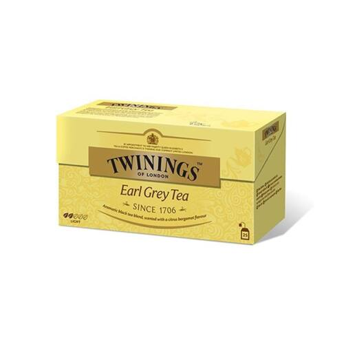 Fekete tea TWININGS Earl Grey 25x2gr