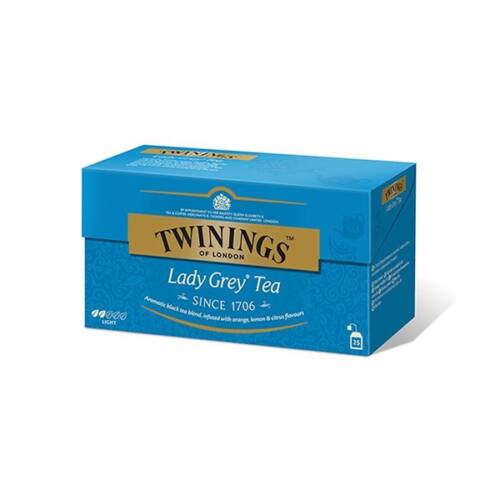Fekete tea TWININGS Lady Grey 25x2gr