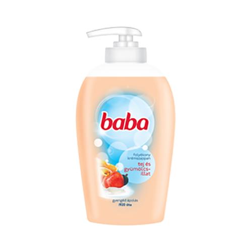 Folyékony szappan pumpás BABA tej és gyümölcs illat 250 ml
