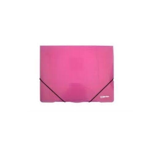 Gumis mappa ELECTRA A/4 műanyag pink