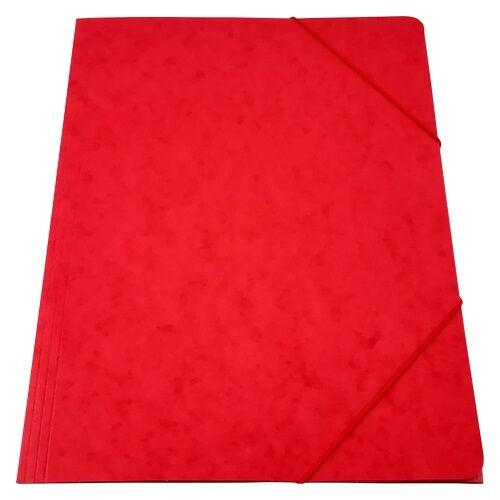 Gumis mappa prespán piros 345gr