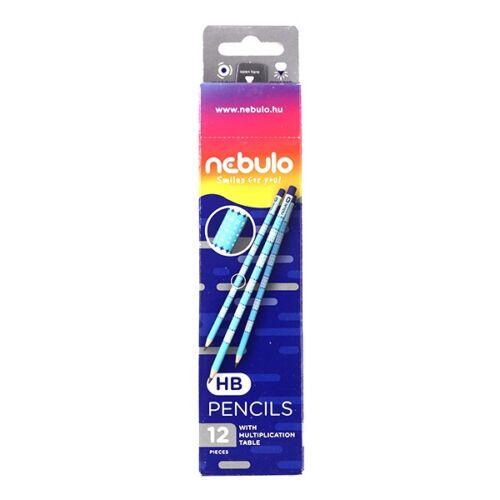 Grafitceruza NEBULO HB hengeres szorzótáblás