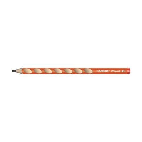 Grafitceruza STABILO Easygraph HB háromszögletű jobbkezes narancssárga