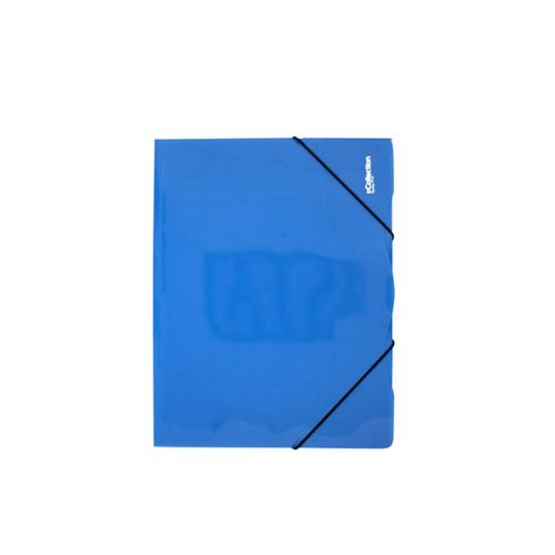 Gumis mappa E-COLLECTION A/4 műanyag kék