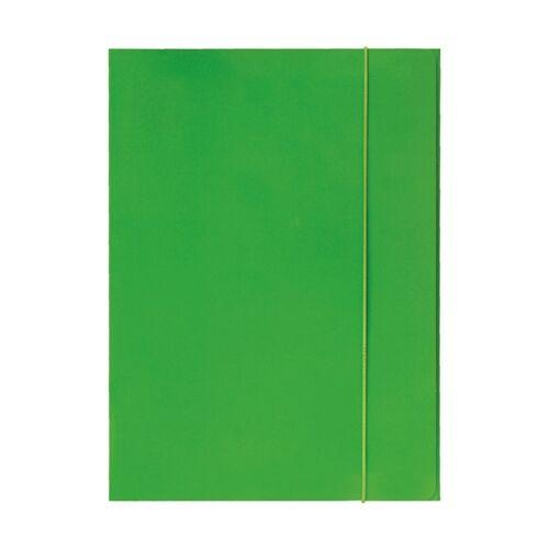 Gumis mappa OPTIMA A/4 fluo zöld 600gr