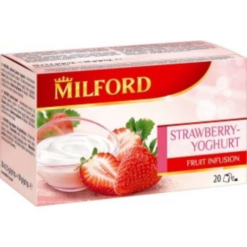 Gyümölcstea MILFORD eper-joghurt 20x2,5g