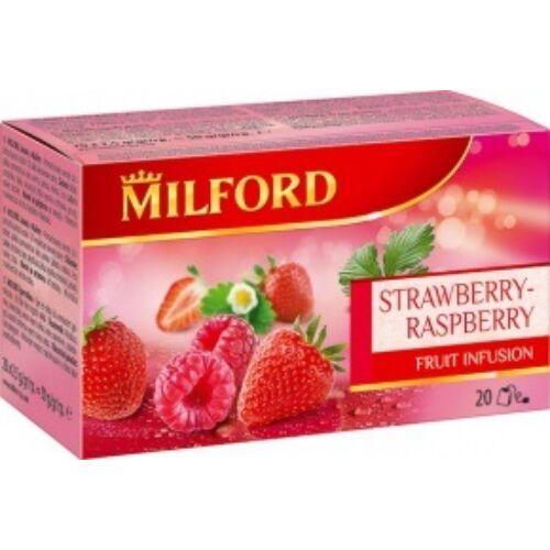 Gyümölcstea MILFORD eper-málna 20x2,5g