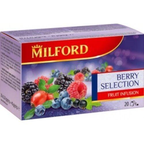 Gyümölcstea MILFORD válogatott bogyós ízű 20x2,25g