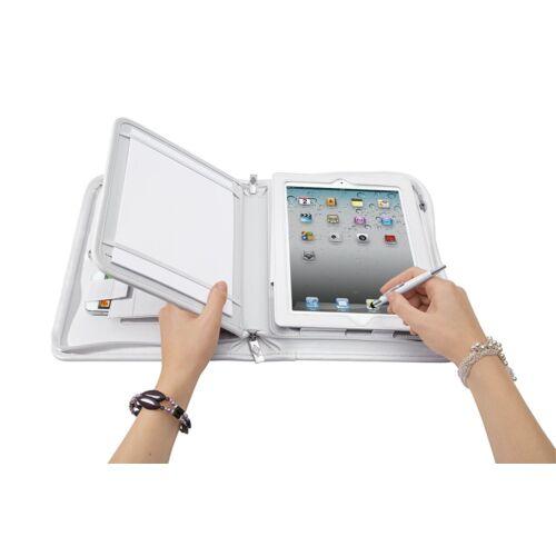 "Konferencia mappa WEDO 9,7"" tablethez + mobil tartóval fehér"