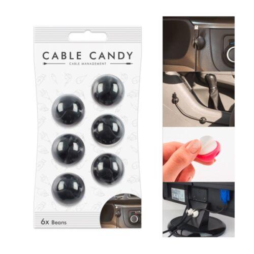Kábelvezető CABLE CANDY gumi tappancs fekete