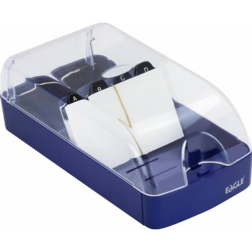 Névjegytartó EAGLE 808M műanyag 550 db-os kék