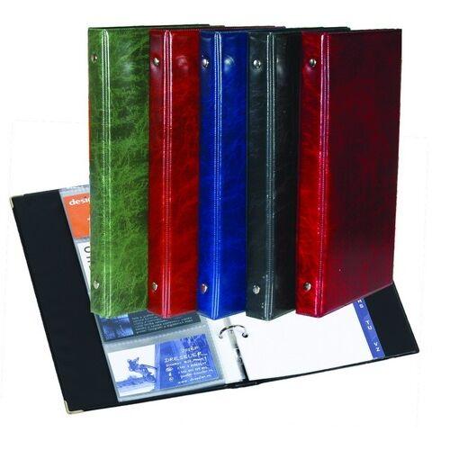 Névjegytartó ELEGANT pvc borítású karton 80 db-os fekete
