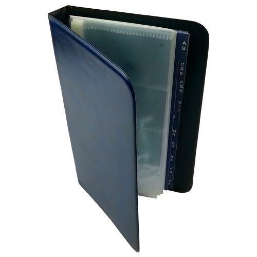 Névjegytartó ELEGANT pvc borítású karton 80 db-os kék