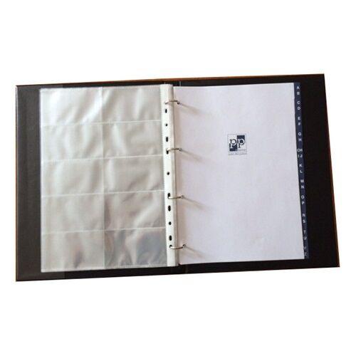 Névjegytartó ELEGANT pvc borítású karton 200 db-os vegyes színek