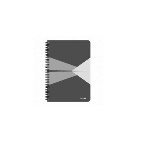 Spirálfüzet LEITZ Office A/4 PP borítóval 90 lapos vonalas szürke