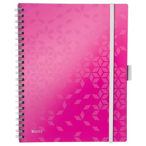 Spirálfüzet LEITZ Wow Active A/4 80 lapos vonalas rózsaszín